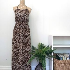Forever 21 Leopard Print Maxi Dress